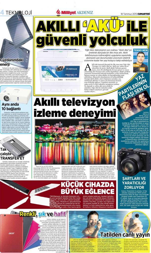 Eren AKA  Milliyet Gazetesi Bölge Ekleri Koordinatörü
